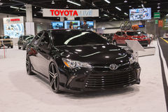 Toyota Camry customizer op vertoning Royalty-vrije Stock Foto's