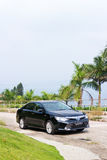 Toyota Camry Hybrid 2014 test Drive Stock Photos