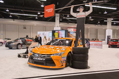 Toyota Camry  Nascar race car  on display. Royalty Free Stock Photo