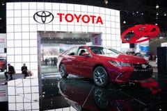 Toyota Camry 2015 op vertoning Royalty-vrije Stock Foto's