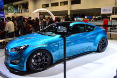 The Toyota car on dispay at the Chicgago Auto Show Royalty Free Stock Image