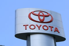 Toyota car maker. Famous and big Toyota Japanese car company