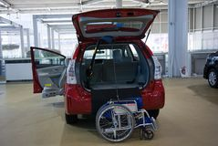 2017 Toyota car with an option wheelchair . Japan Royalty Free Stock Photos