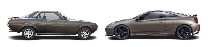Toyota Celica старый и новый Стоковые Изображения