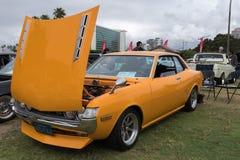 Toyota Celica 1972 auf Anzeige Lizenzfreies Stockfoto