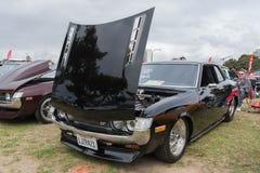 Toyota Celica 1972 auf Anzeige Lizenzfreie Stockfotografie