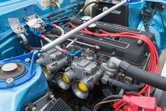 Toyota Celica GT motor på skärm Royaltyfria Bilder