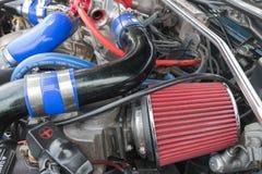 Toyota Celica motor 1992 på skärm Arkivfoton