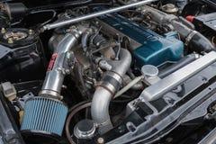 Toyota Celica motor 1983 på skärm Fotografering för Bildbyråer