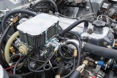 Toyota Celica motor 1977 på skärm Royaltyfri Foto
