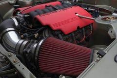 Toyota Celica motor 1973 på skärm Fotografering för Bildbyråer