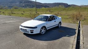 Toyota celica 1991. My old toyota Stock Photography