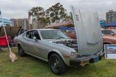 Toyota Celica 1977 på skärm Arkivbild