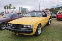 Toyota Celica 1981 på skärm Arkivbild
