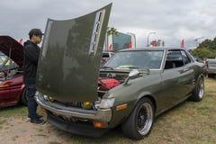 Toyota Celica 1973 på skärm Arkivbilder