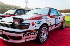 TOYOTA CELICA ST 165 oude de raceautoverzameling van 1988 Stock Foto's