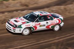 Toyota Celica under samlar show Arkivbild