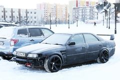 Toyota Chaser. Novyy Urengoy, Russia - January 20, 2019: Motor car Toyota Chaser in the city street stock photo