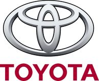 Toyota company logo. Toyota Motor Corporation is a Japanese multinational automotive manufacturer headquartered in Toyota City, Aichi, Japan. In 2017, Toyota`s royalty free illustration