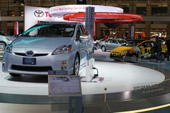 Toyota concept model of Prius Stock Photos