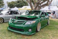 Toyota Corolla 2011 auf Anzeige Lizenzfreies Stockfoto