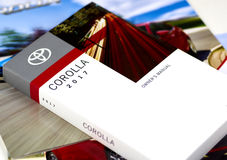 Toyota Corolla car manual. Stock Photo
