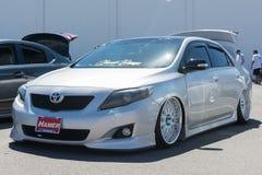 Toyota Corolla egen på skärm royaltyfri bild