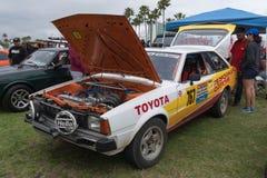 Toyota Corolla el an o 80 en la exhibición Imagenes de archivo