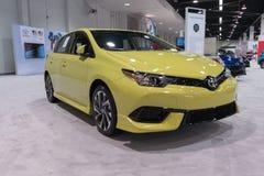 Toyota Corolla iM op vertoning stock foto