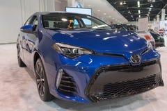 Toyota Corolla op vertoning royalty-vrije stock fotografie