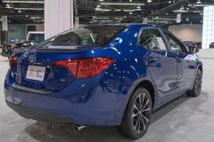 Toyota Corolla op vertoning stock afbeelding