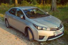 Toyota Corolla parkerade i naturen, skog Royaltyfri Bild