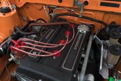 Toyota Corolla-Sprintermaschine 1972 auf Anzeige Stockfotos