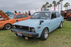 Toyota Corolla 1978 su esposizione Immagine Stock