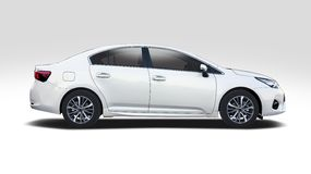 Toyota Corolla  on white Royalty Free Stock Images