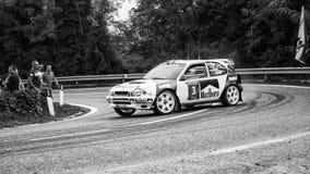 TOYOTA COROLLA WRC bieżnego samochodu stary wiec obraz stock