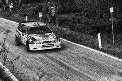 TOYOTA COROLLA WRC 1997 in oude raceauto verzamelt de LEGENDE 2017 royalty-vrije stock fotografie