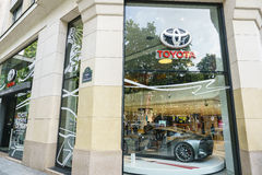 Toyota dealership, Paris Stock Photo