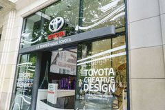 Toyota dealership, Paris Royalty Free Stock Photo