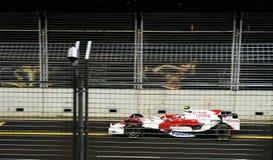 Toyota en la fórmula 1 raza de la noche en Singapur. Foto de archivo libre de regalías