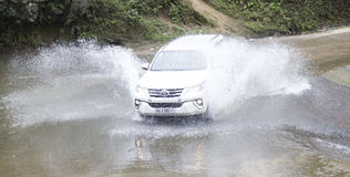 Toyota Fortuner 2017 SUV in a test drive Royalty Free Stock Photo