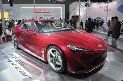 Toyota FT-86 concept car. In its exhibition hall,in 2010 international Auto-show GuangZhou. it is from 20/12/2010 to 27/12/2010. photo taken on 25 Dec. 2010 Stock Image