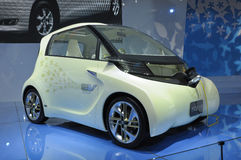 Toyota FT-EVII concept electric car. In its exhibition hall,in 2010 international Auto-show GuangZhou. it is from 20/12/2010 to 27/12/2010. photo taken on 25 Stock Photo