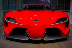 Toyota FT-1. Odaiba, Tokyo, Japan - October 14, 2017 : The concapt car, Toyota FT-1 In Toyota city showcase Stock Photography