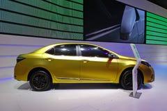 Toyota golden corolla Stock Images