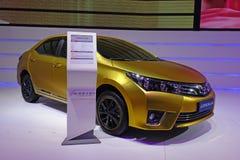 Toyota golden corolla Stock Photos