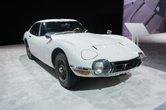 Toyota 2000 GT Coupe 1967 on display stock photos