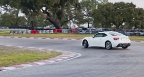 Toyota GT86 drifting on race track Stock Image