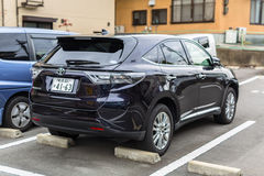 Toyota harrier on the street of Kyoto Royalty Free Stock Photo