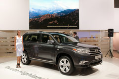 Toyota Highlander - world premiere Stock Images